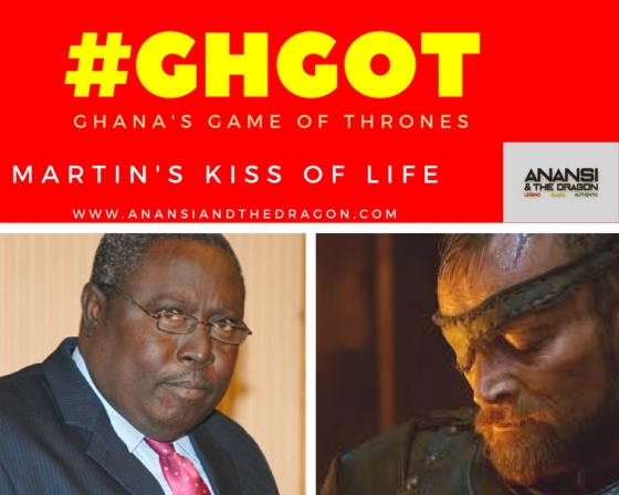 game of thrones: Martin Amidu and Beric Dondarrion