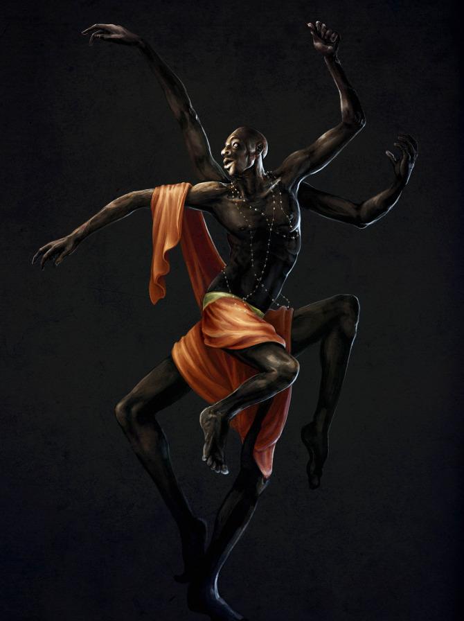 eight-limb Anansi illustration by Bethany Minervino